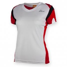 Rogelli Eabel hardloopshirt korte mouw dames - wit/rood/zwart