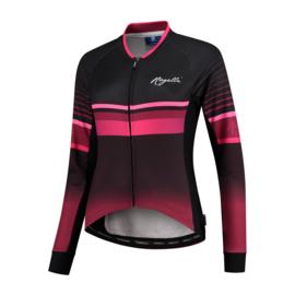 Rogelli Impress dames fietsshirt lange mouwen – bordeaux/roze