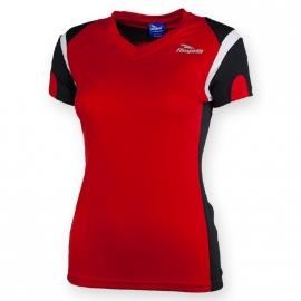 Rogelli Eabel hardloopshirt korte mouw dames - rood/zwart/wit