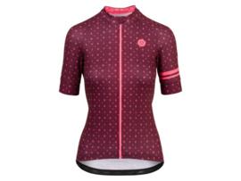 AGU Velo Love dames fietsshirt korte mouwen - windsor wine