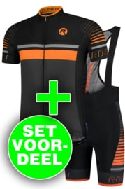 Rogelli Hero zomer fietskledingset - grijs/zwart/oranje