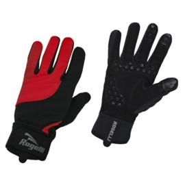 Rogelli Storm winter fietshandschoenen - zwart/rood