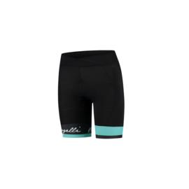 Rogelli Select korte dames fietsbroek - zwart/turquoise