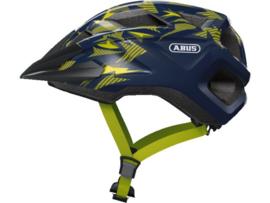 ABUS Mountz kinder fietshelm - blauw/geel