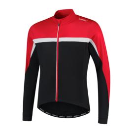 Rogelli Course heren fietsshirt lange mouwen - rood/zwart/wit