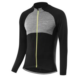 Löffler Wool heren fietsshirt lange mouwen - zwart/grijs/fluor