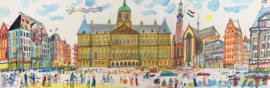 Amsterdam - Koninklijk Paleis en de Nieuwe Kerk op de Dam