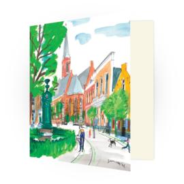 Kunstkaart - Wassenaar Plein en Dorpskerk