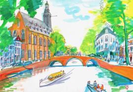 Leiden, Rapenburg met het Academiegebouw