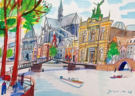 Haarlem - Spaarne en Gravestenenbrug