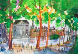 Den Haag - Hofvijver met Mauritshuis en het 'Torentje'