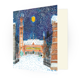 Kunstkaart - Den Haag Vredespaleis in de winter