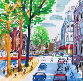 Den Haag - Lange Vijverberg en de Plaats