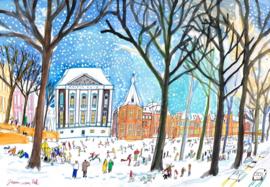 Den Haag - Hofvijver in de winter