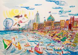 Den Haag - Scheveningen strand en het Kurhaus