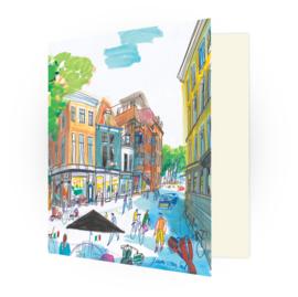 Kunstkaart - Den Haag Vos in Tuinstraat
