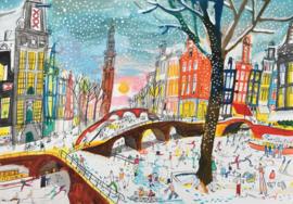 Amsterdam - Sneeuw gracht