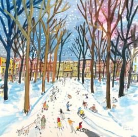 Den Haag - Lange Voorhout in de winter
