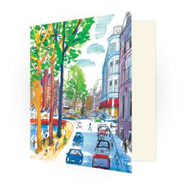 Kunstkaart - Den Haag Lange Vijverberg en de Plaats