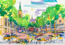 Den Haag - Grote Markt met de Zwarte Ruiter en Boterwaag