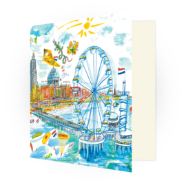 Kunstkaart - Scheveningen Pier met reuzenrad