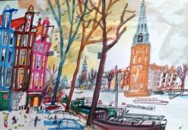 Amsterdam - Singel en Munttoren