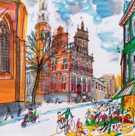 Den Haag - Grote Kerk en Oude Raadhuis