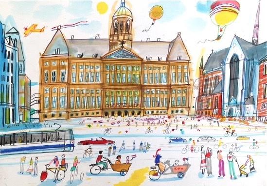 Amsterdam - Het Koninklijk Paleis op de Dam