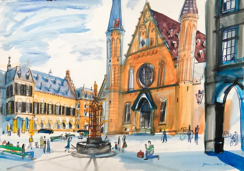 Den Haag - Binnenhof en Ridderzaal
