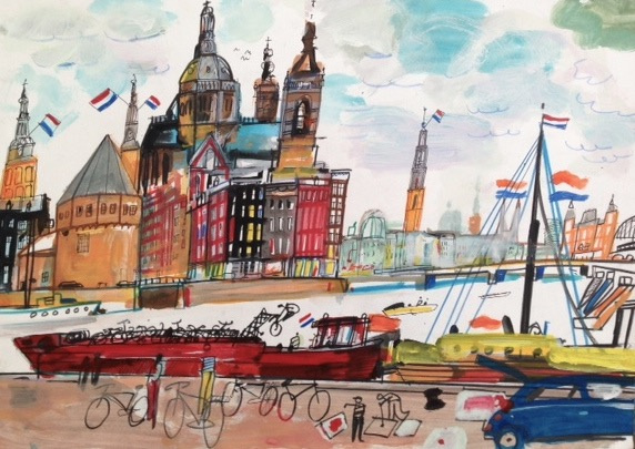 Amsterdam vanaf de overkant