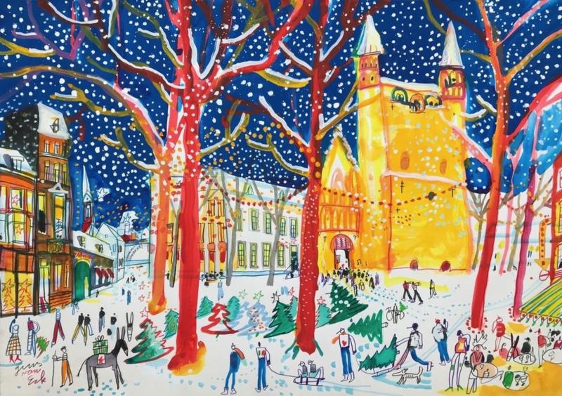 Maastricht - OLV Plein met Kerst