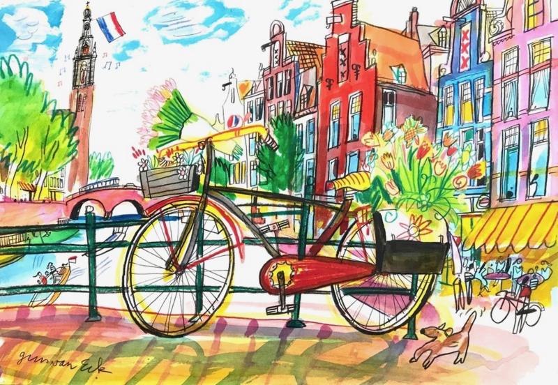 Amsterdam - Brug met fiets