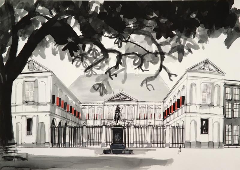 """Den Haag - Paleis Noordeinde en de """"postzegelboom"""""""