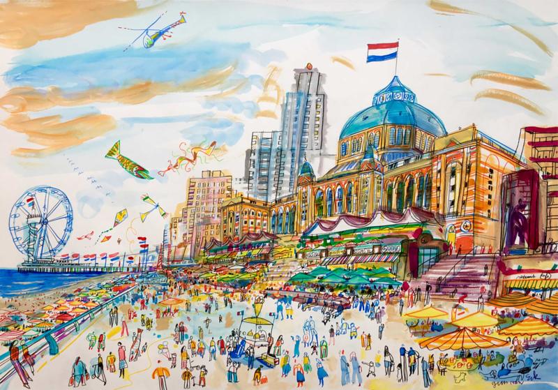 Den Haag - Scheveningen met het Kurhaus en de pier