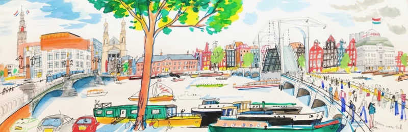 Amsterdam - Magere Brug, Carré, Hermitage en Stopera