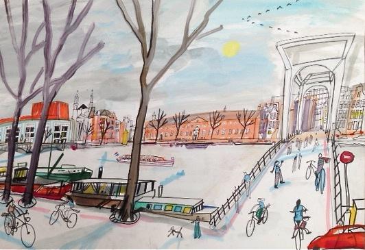 Amsterdam - Hermitage en Stopera in de winter