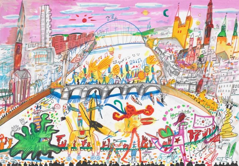 Maastricht - Carnaval op de Sint Servaasbrug