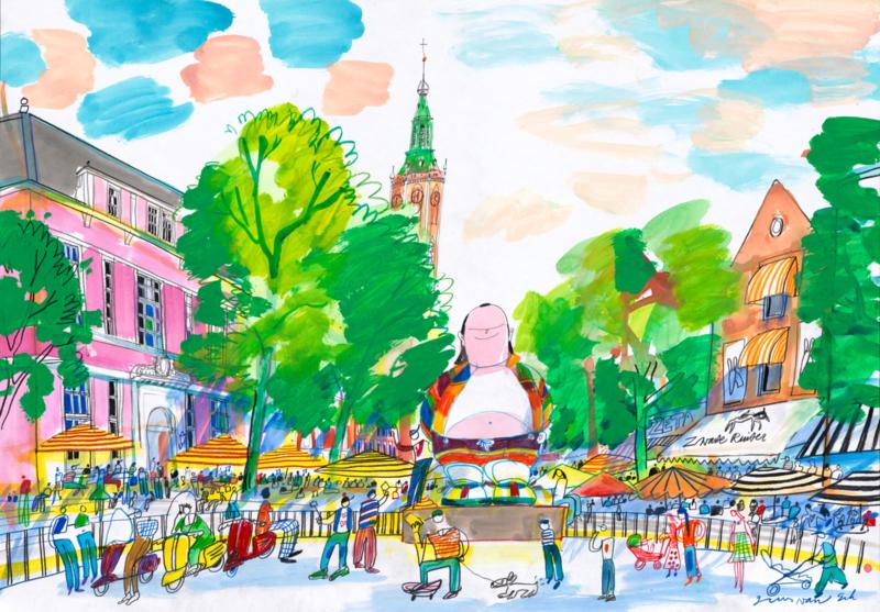 Den Haag - Grote Markt met Haagse Harry