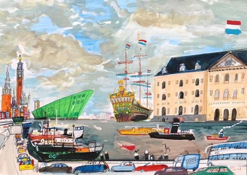 Amsterdam - Scheepvaartmuseum en het VOC schip
