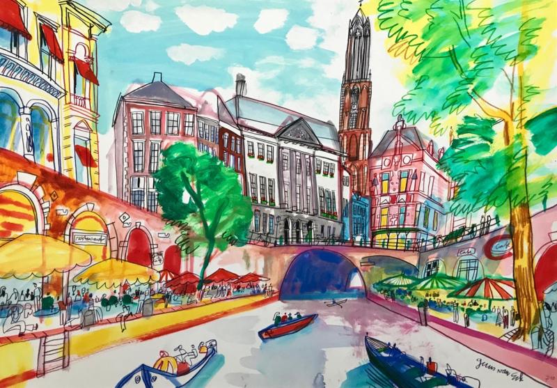 Utrecht, Oude gracht 2015
