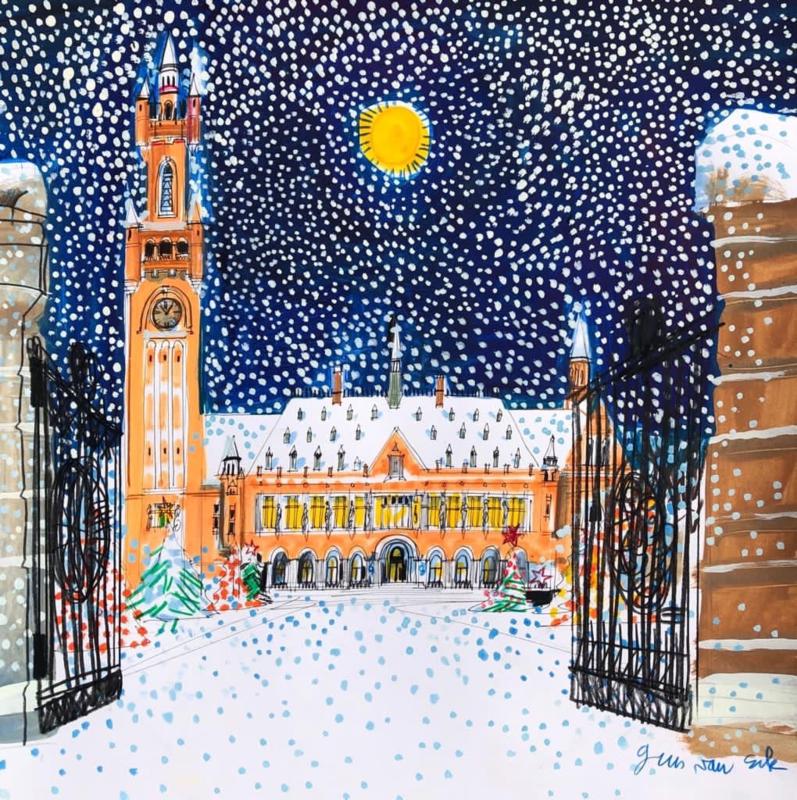 Den Haag - Vredespaleis in de winter