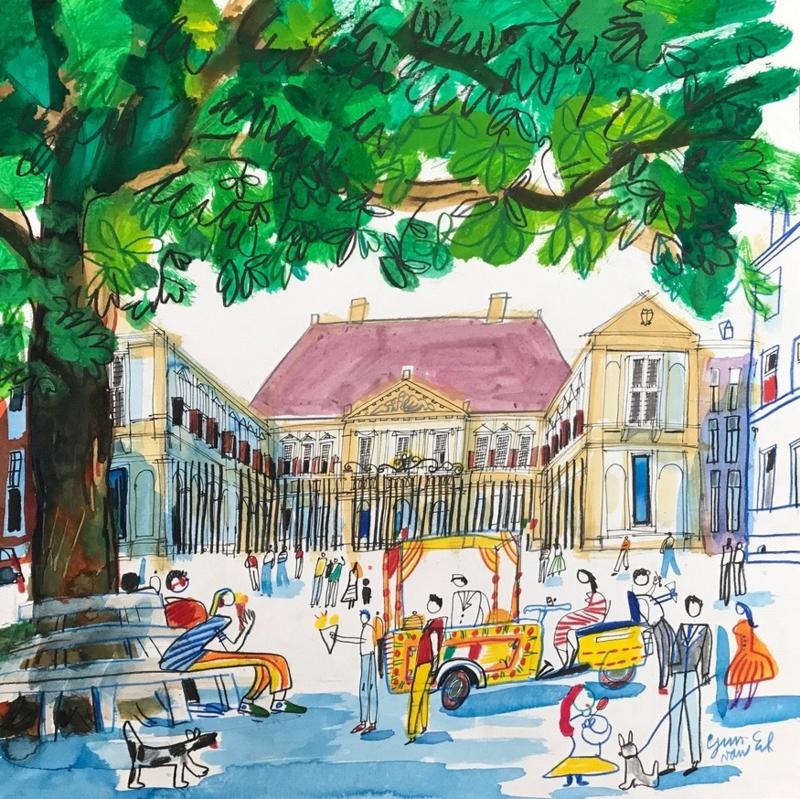 Den Haag - Paleis Noordeinde en de Postzegelboom
