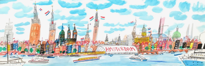 Amsterdam - zicht op Centraal Station