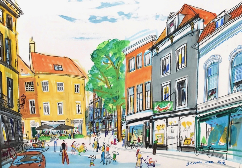 Den Haag - HCH gallery op de Vos in Tuinstraat, hoek Denneweg