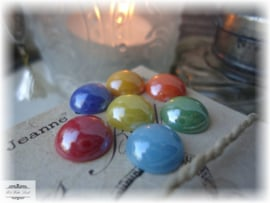SET VAN 20 CABOCHONS 10 MM (MIX)