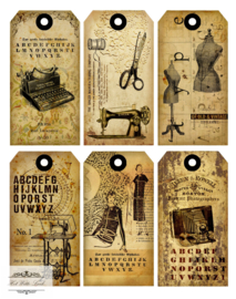 VINTAGE PLAATJES (VP 10 + 966) labels fournituren