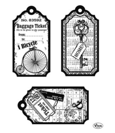 CLEARSTAMPS TAGS BICYCLETTE SLEUTEL TICKET