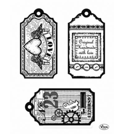 CLEARSTAMPS TAGS LOVE HANDMADE