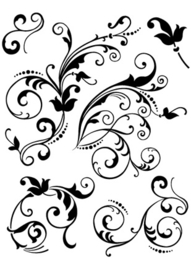 CLEARSTAMPS FLORAL EMBELLISHMENTS
