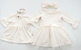 Kleine Baasjes 'WEDDING' - Dress Cream Tule